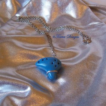 Handmade Ocarina of Time Pendant Necklace ZELDA by TorresDesigns