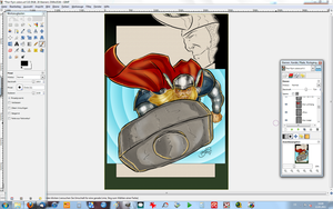 Thor and Loki WIP by BouncieD