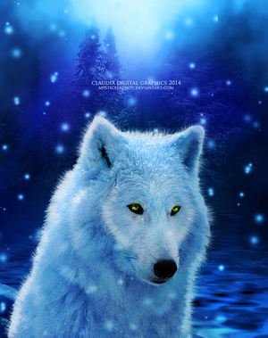 Winter Wolf by MysticSerenity