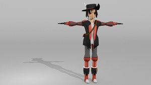 WIP Update : Marius Character textured by Solacen