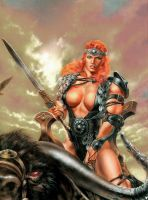 Massive Red Sonja by Musclelicker