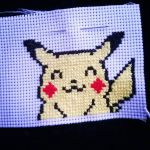 Pikachu cross stitch by gothicanimefreak666