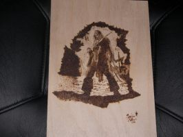 Pyrograph Captain Jack Sparrow by SarcasticRacoon