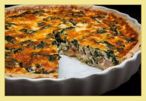Bacon Ham and Spinach Quiche 01 by PoodleSchmoodle