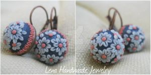 Earrings - little flowers by LenaHandmadeJewelry