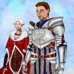 Alistair and his Warden Eliomai by Arquen