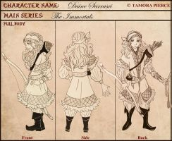 Daine Character Sheet by SeiraSky