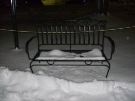 Snowy Bench-2 by Rubyfire14-Stock