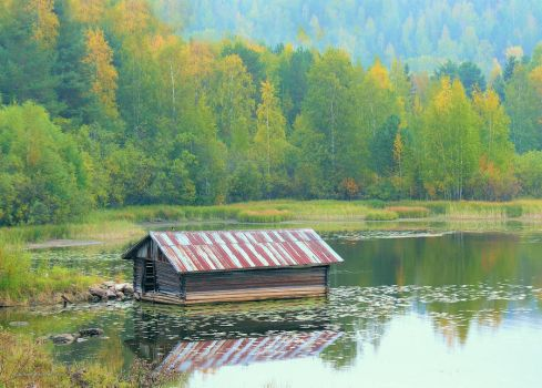 old boathouse by KariLiimatainen