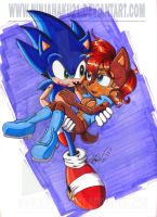 Sonic and Sally by NinjaHaku21
