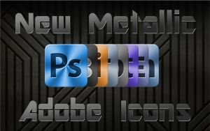 Metallic Adobe Icons by FavsCo