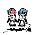 58-8:Rem and Ram chibis by DoomZealot
