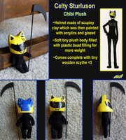 Celty Chibi Plush by Snuckledrops