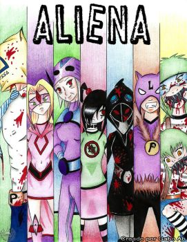 Aliena. mi nuevo webcomic XD by AbGabo
