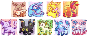 Cutie Eeveelutions by raizy