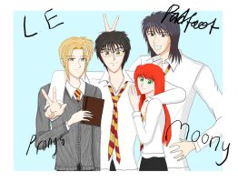 The marauders+Lily photoshoot by privee