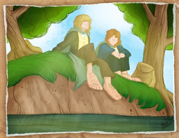 Fanart Friday 2: Merry and Pippin by annieawesomesauce