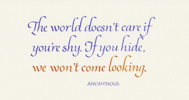 Anonymous - If You're Shy by MShades