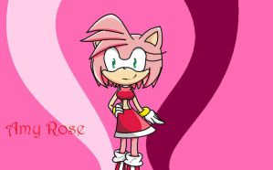 Amy rose by halleythehedgie76
