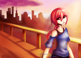 Cherry sunset by monkeynova