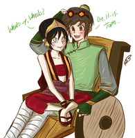 Teo and Toph - painttoolsai by poofy-wings