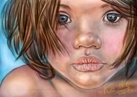 Digital painting girl by keillly