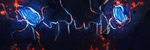 Messy Glowy Hand Drawn Twitter Banner by aaa13xxx