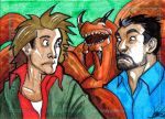 Tremors Charity Sketch Card by y2jenn