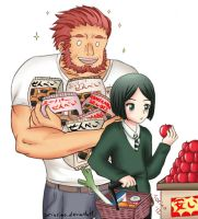 Shopping with Waver and Iskandar by Torinrino