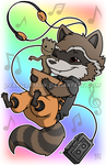 Commission - Rocket and Groot chibies by DeanGrayson