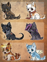 6 small auctions adoptables - open by Bluefirewings