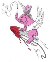 Rabbit riding on tampone FTW by Baitti
