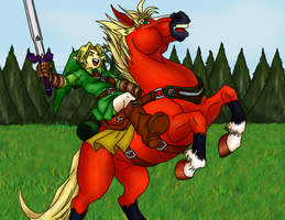 Link and Epona Fanart by Hippotrope