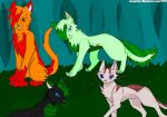 Four in the Forest by CloverPawIsHere