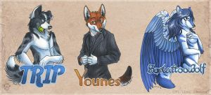 Traditional Badge Group by Idess