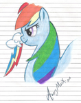 Rainbow Dash Free Hand by AveryMarx