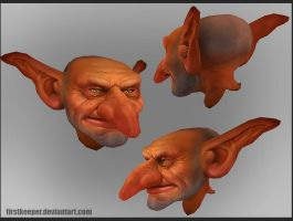 Goblin head by FirstKeeper