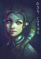 Twi'lek portrait speedpainting by Morgan-chane