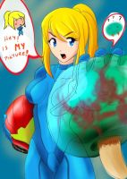 Samus and metroid by aakkittoo