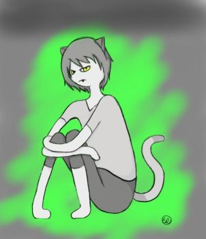 Male!Human!Me-Mow from Adventure Time by crimsonkoteto