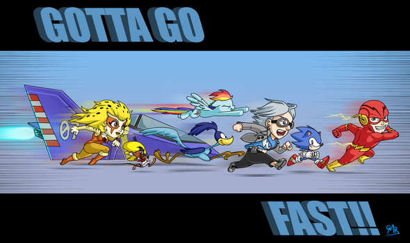 GOTTA GO FAST!! by Daeron-Red-Fire