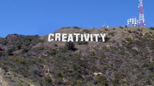 Hollywood style with creativity text by curtisblade