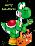 Yoshi_Happy Halloween by Sedna93