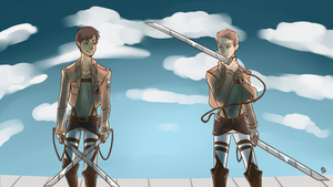 Attack On Titan Adel and Isaac by KanashiGD