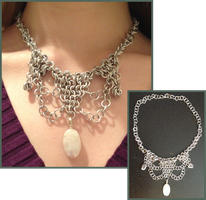 Chainmail Necklace 2 by LittleFireDragon