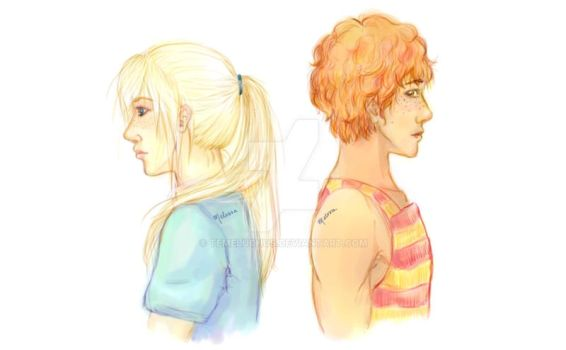 Weasley Cousins - Doodle by temeluchus