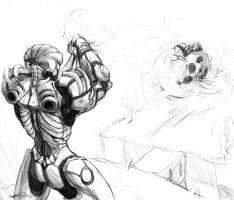 Dawid Contest - Samus vs Kirby by Delvennerim