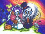 Sugar Skull Wedding by BankyOne