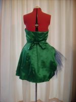 Kyla's Peacock Dress - Back by happyhippybassist