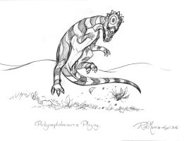 023 Pachycephalosaurus Playing by Gorpo
